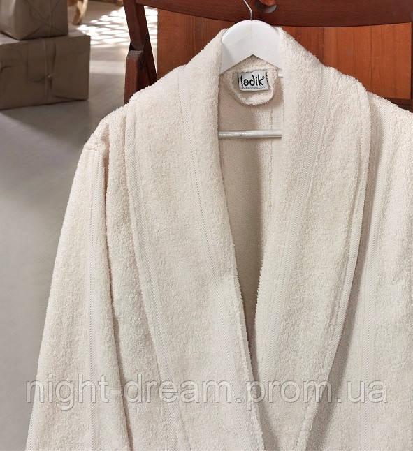 Банный махровый халат  Ladik  Karren v2 кремовый L