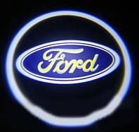Дверной логотип LED LOGO 020 FORD , Светодиодная подсветка на двери с логотипом, Лазерная проекция