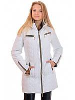 """Женская куртка-пальто белая """"Долли"""""""