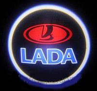 Дверной логотип LED LOGO 245 LADA, Светодиодная подсветка на двери с логотипом, Лазерная проекция