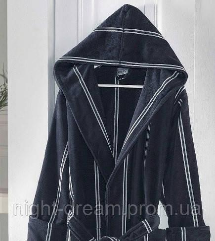 Банный махровый халат с капюшоном  Ladik  Allure v1 антрацит M