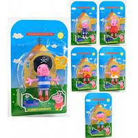 Игровая фигурка из мультфильма Свинка Пеппа (Peppa Pig) - 6 видов фигурок на планшете.