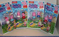Игровые фигурки 2шт. на планшете из мультфильма Свинка Пеппа (Peppa Pig) - 4 вида.