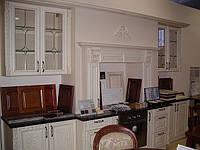 Готовые кухни Киев, кухня деревянная с фасадами Drewpol (ясень), длина 3,5м