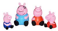 Набор игровых фигурок-пищалок 4 шт. из мультфильма Свинка Пеппа (Peppa Pig)