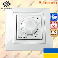 Терморегулятор для обогревателя TERNEO ROL белый (16A, 3 kW)