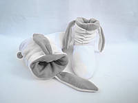 Милые теплые тапочки-сапожки=Зайки=мягкие ,белые