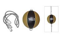 Груша боксерская круглая VELO ULI-8008 (верх-кожа, латекс. камера,на растяжке,d-24см)
