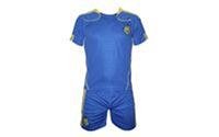 Форма футбольная детская CO-1006-UKR-12 Украина (PL, р-р S-122см, М-134см, L-140см, синий-желтый)
