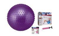 Мяч для фитнеса (фитбол) SOLEX BB-003-22-DN (массажный, PVC, d-55см,1200г,+DVD,+насос, ABS-система)