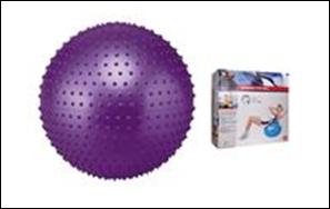 Мяч для фитнеса (фитбол) SOLEX BB-003-30 (массажный,PVC, d-75см, 1350г,цвета в ассорт., ABS-система) - ADX.IN.UA в Одессе