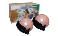 Мячи-утяжелители для фитнеса и пилатеса WITHTED BALL PS 030-1LB (2*1LB) (резина, фикс. ремни)