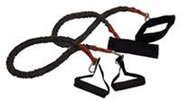 Набор эспандеров для фитнеса FI-3018 (2 рез.жгута с различ. жесткостью в PL чехле, l-80см)