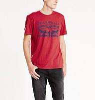 Мужская футболка Levis Housemark Tee -  Crimson
