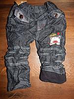 Утепленные джинсы на мальчика, на флисе, на резинке, от 1 до 4 лет