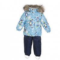 Комплект MANDY Huppa, куртка+полукомбинезон (термо) д/м р.80-98, голубой