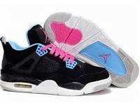 Женские баскетбольные кроссовки Nike Air Jordan 4 black