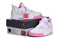 Женские баскетбольные кроссовки Nike Air Jordan 4 white