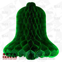 Зеленый колокольчик бумажный для декора h-31 (бумага тишью)