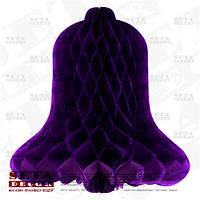 Подвесной декор фиолетовый колокольчик бумажный (бумага тишью)