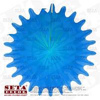 """Голубой декор подвесной """"Диск"""" бумажный d=50 см."""