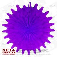 """Фиолетовый декор подвесной """"Диск"""" бумажный d=50 см"""