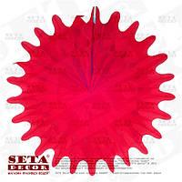 """Малиновый декор подвесной """"Диск"""" бумажный d=50 см. Продажа и прокат."""