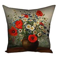Декоративная подушка Ваза с цветами