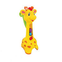 Игрушка каталка Аккуратный жираф со светом и звуком