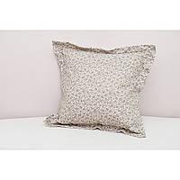 Декоративная подушка в цветочек серая