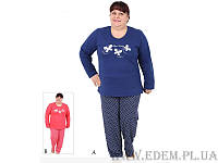 "Пижама женская байковая с брюками ""модель 3118/406056"" БАТАЛ (артикул: 13892)"