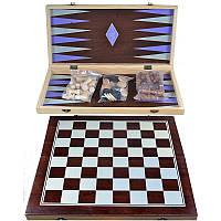 Игровой набор 3в1 Шахматы Шашки Нарды  С-001-1