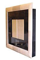 Стенка Эксклюзив 4х2,25м. Черная глянцевая с кожаным декором.