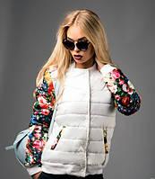 Стильная куртка с цветочным принтом S M L