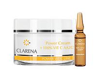 Крем-основа с экстрактом шелка + ампула с 100% витамином С Clarena Power Cream + 100% VIT C 100ml+3m