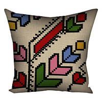 Патриотическая подушка с ярким рисунком вышивкой
