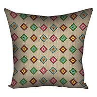 Подушка декор разноцветный Кубик