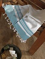 Полотенце для сауны  Buldans Lykia 100*180 бирюзовое