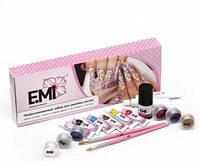 Профессиональный стартовый набор для дизайна ногтей, EMI