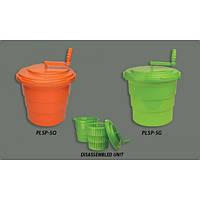 Ведро для сушки зелени пластиковое 18л оранжевое