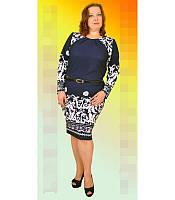 Стильное женское платье большого размера 1103