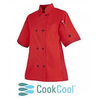 Куртка поварская мужская, короткий рукав S - 3XL, красный