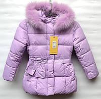 Зимняя курточка для девочки 2-6 лет OHCCMITH сиреневая
