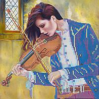 """Схема для вышивания бисером на художественном холсте """"Музыка души"""""""