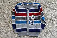 Детская вязаная кофта для мальчика  , р.98-152