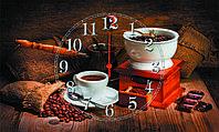 """Часы настенные стеклянные """"Все для кофе"""""""