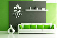 Виниловая наклейка на стену Keep Calm and carry on