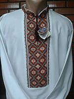 Біла чоловіча вишиванка ручної роботи (домоткане полотно)