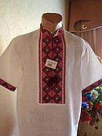 Чоловіча вишита сорочка на білому льоні (ручна робота)
