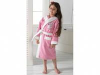 Детский халат для девочки Philippus розовый с кошечкой 9-10 лет.